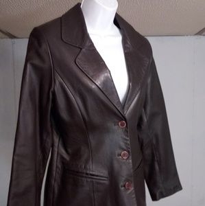 Womans Small Petite Leather Jacket